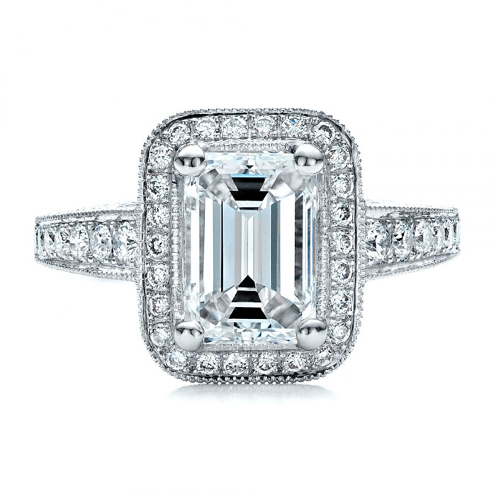 custom emerald cut engagement ring 1478