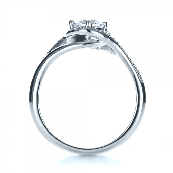 Custom Engagement Ring with Wrapped Halo - Top View