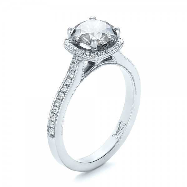 Custom Fancy Grey Diamond Engagement Ring