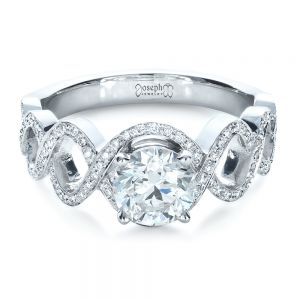 Custom Filigree Diamond Engagement Ring