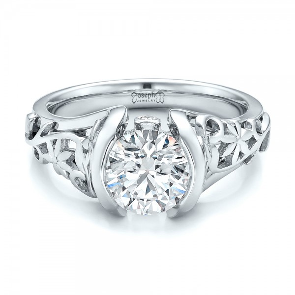 Custom Filigree and Diamond Engagement Ring