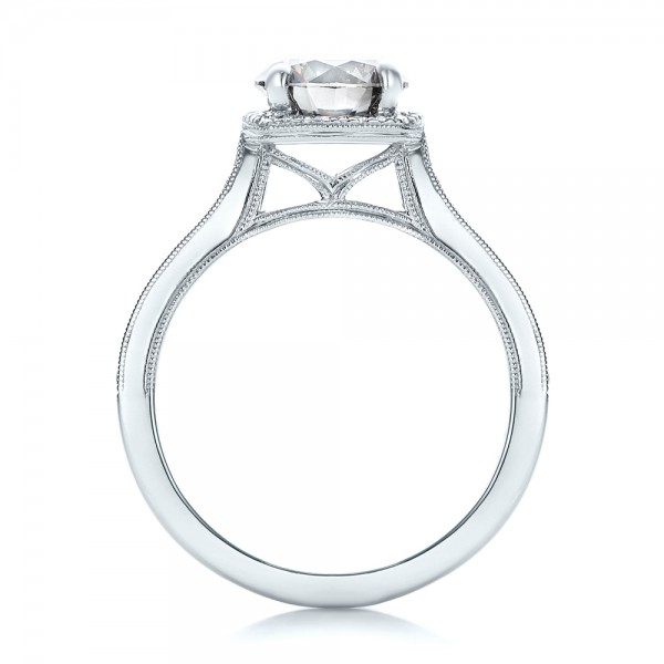 Custom Fancy Grey Diamond Engagement Ring