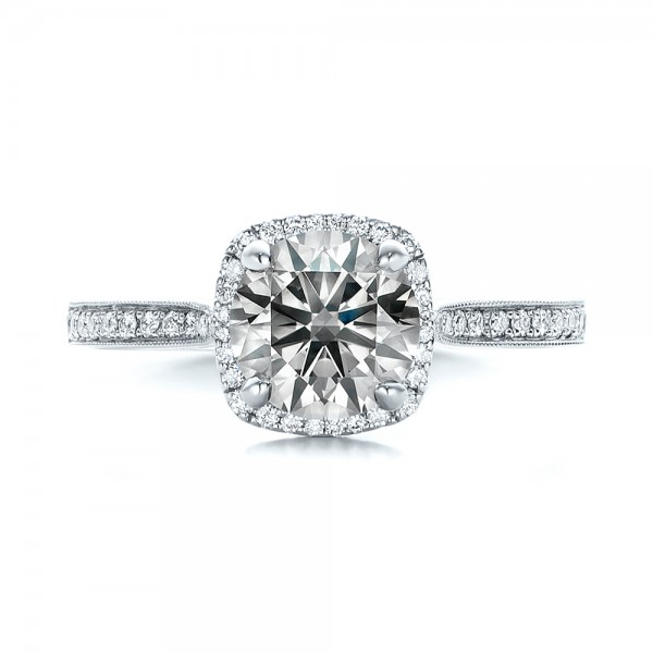 ... Custom Fancy Grey Diamond Engagement Ring - Top View ...
