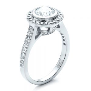 Custom Halo Engagement Ring - Image