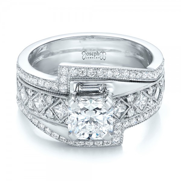 Custom Interlocking Diamond Engagement Ring