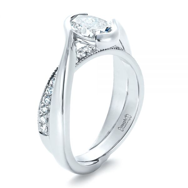 Custom Interlocking Engagement Ring 1437