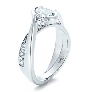 Custom Interlocking Engagement Ring - Image