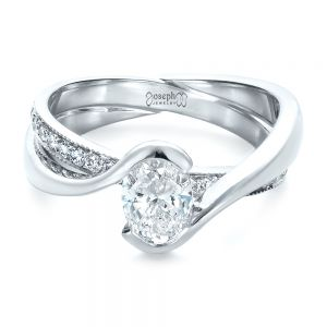 Custom Interlocking Engagement Ring