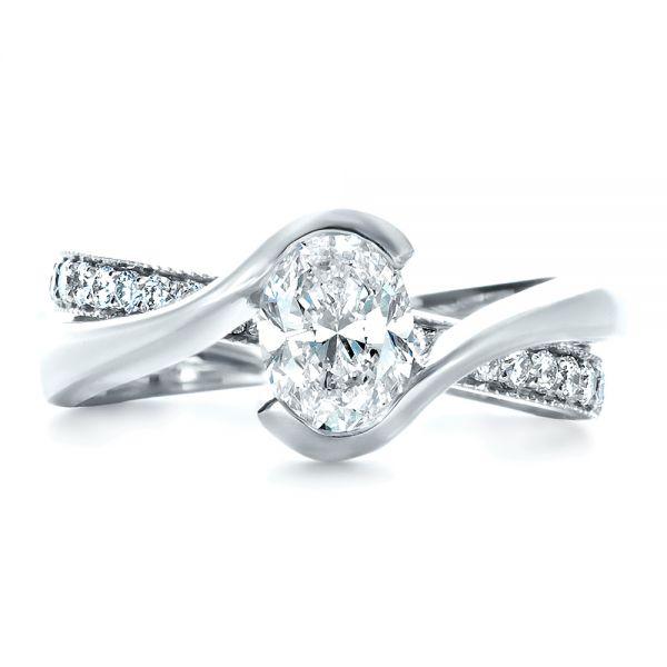 Custom Interlocking Engagement Ring #1437