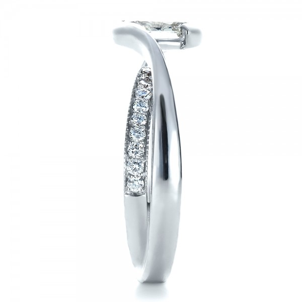 Custom Interlocking Engagement Ring - Side View