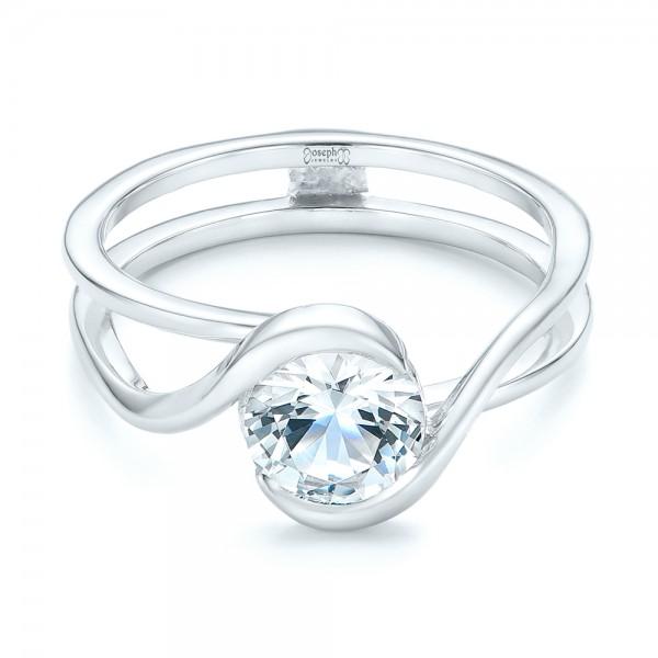 Custom Interlocking Solitaire Engagement Ring #102244