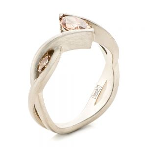Custom Marquise Cognac Brown Diamond Engagement Ring - Image