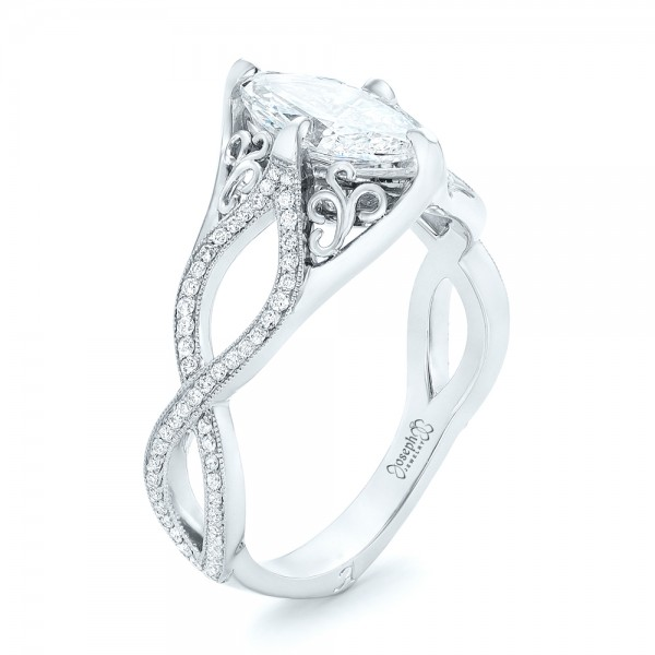 shank ring rings notes carat marquee purchased recently engagement marquise split read solitaire curved diamond
