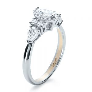 Custom Marquise Diamond Engagement Ring - Image