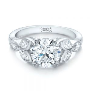 Custom Marquise Diamond Engagement Ring