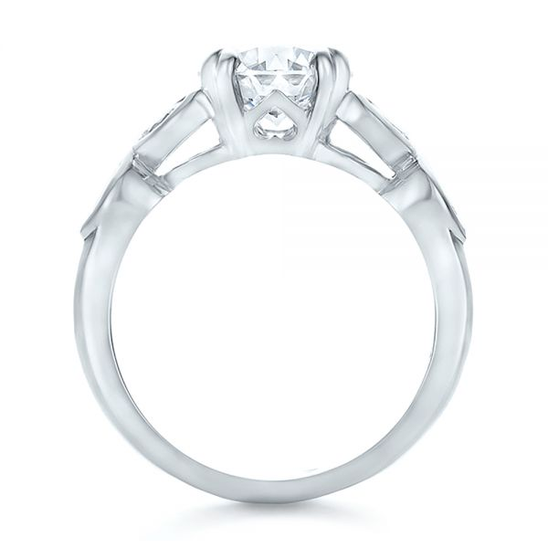 Custom Marquise Diamond Engagement Ring - Front View -  100647 - Thumbnail