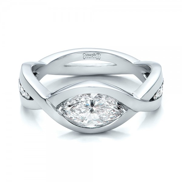 Custom Marquise Diamond Engagement Ring 100824