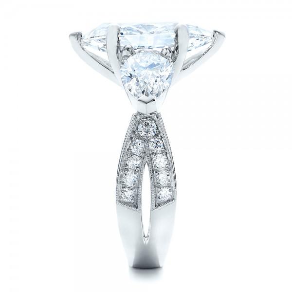 Custom Marquise Diamond Engagement Ring - Side View