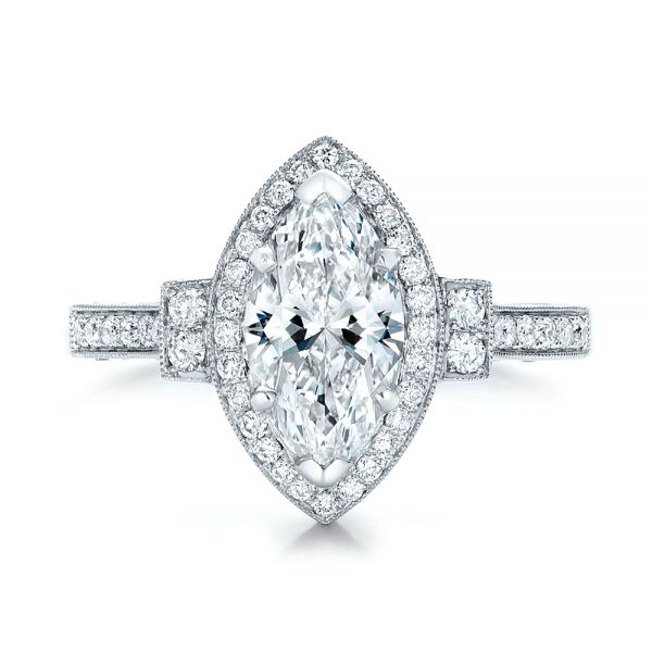 e2fe024bed6c8 Custom Marquise Diamond Halo Engagement Ring