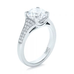 Custom Micro-Pave Diamond Engagement Ring - Image