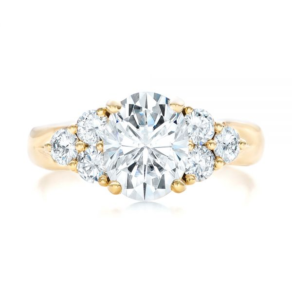 Custom Moissanite Engagement Ring - Top View -  102242 - Thumbnail