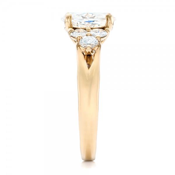 Custom Moissanite Engagement Ring - Side View