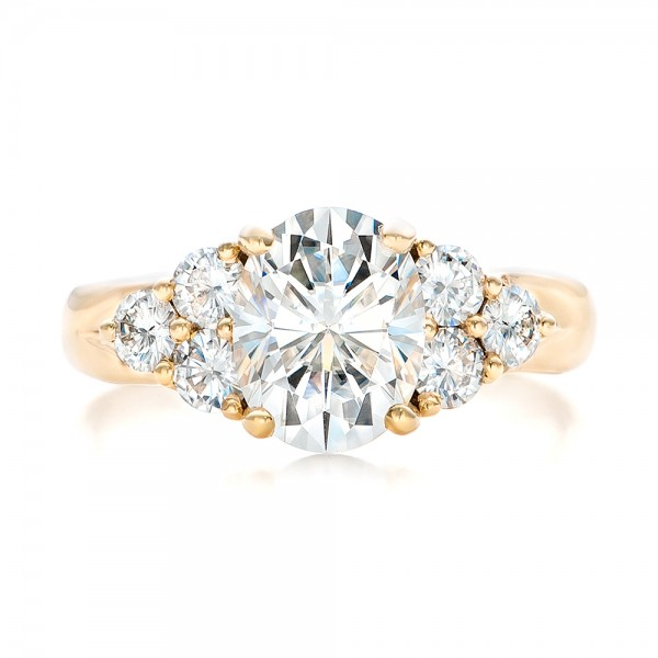 Custom Moissanite Engagement Ring - Top View