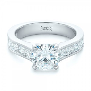 Custom Princess Cut Diamonds Engagement Ring