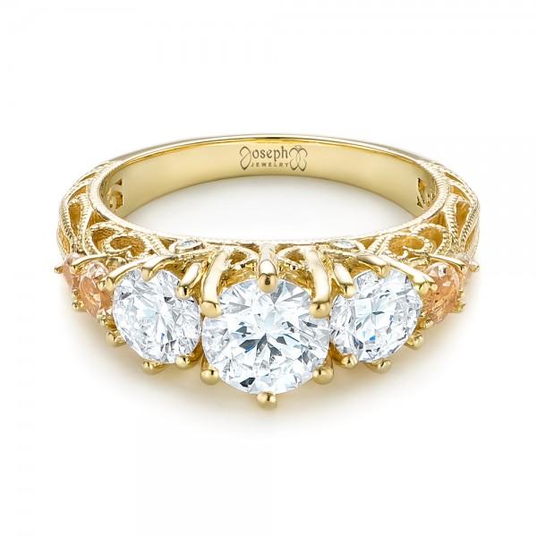 custom morganite and engagement ring 103649