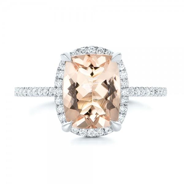 custom morganite and halo engagement ring 102482