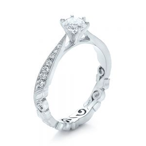 Custom Organic Diamond Engagement Ring - Image