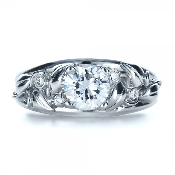 Custom Organic Diamond Engagement Ring
