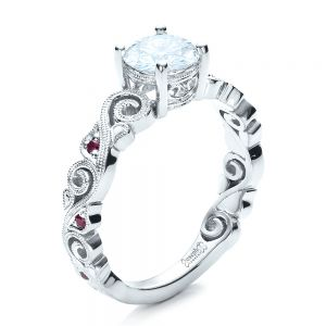 Custom Organic Engagement Ring - Image