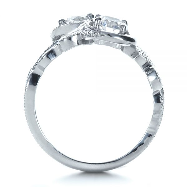 Custom Organic Infinity Diamond Engagement Ring - Front View -  1383 - Thumbnail