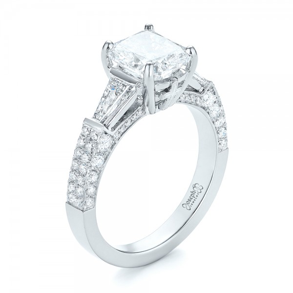 Custom Pave Diamond Engagement Ring - Image