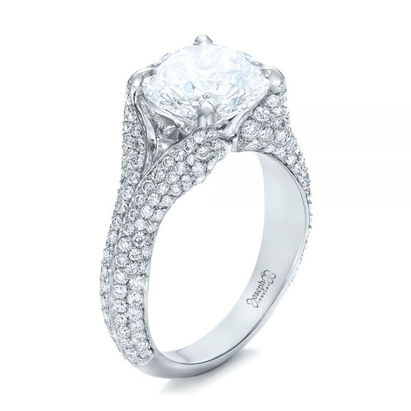 Custom Pave Diamond Engagement Ring