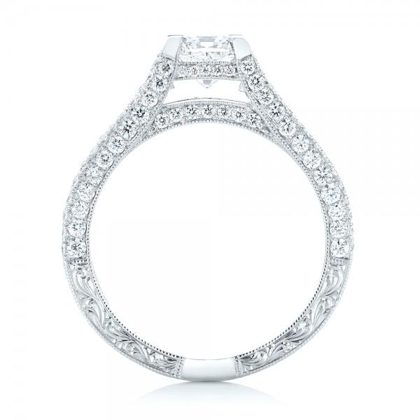 custom pave engagement ring 102796