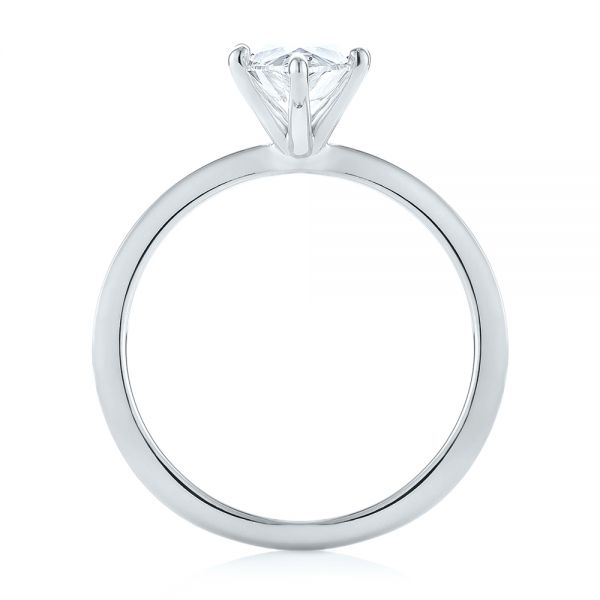Platinum Platinum Custom Pear Shaped Solitaire Diamond Engagement Ring - Front View -  104399