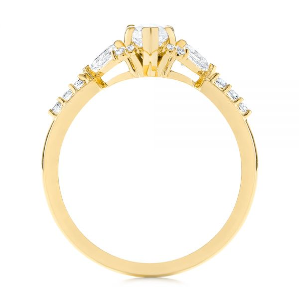 14k Yellow Gold 14k Yellow Gold Custom Pear And Marquise Diamond Engagement Ring - Front View -  104172 - Thumbnail
