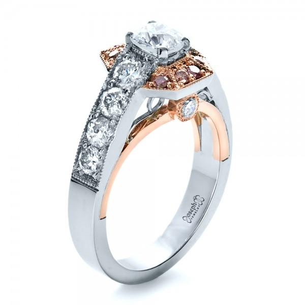 Custom Pink Diamond Engagement Ring