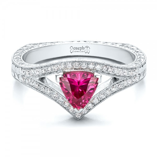 Custom Pink Sapphire Engagement Ring