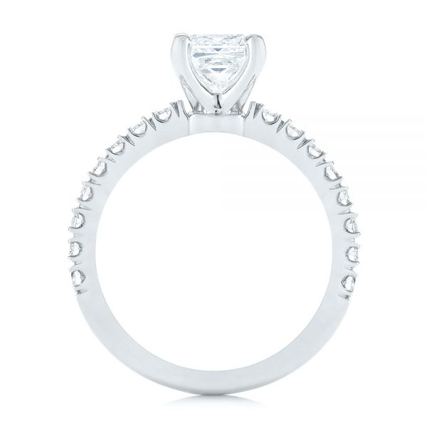 Custom Princess Cut Diamond Classic Engagement Ring - Front View -  104251 - Thumbnail