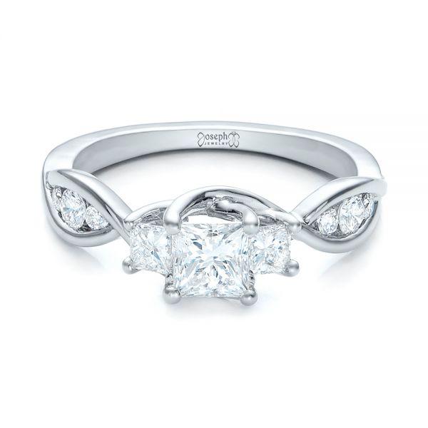 Custom Princess Cut Diamond Engagement Ring 101223