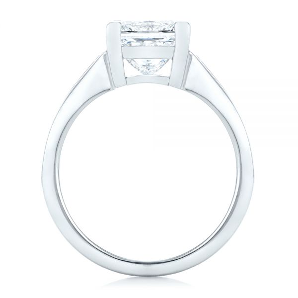 Custom Princess Cut Diamond Engagement Ring - Front View -  102536 - Thumbnail