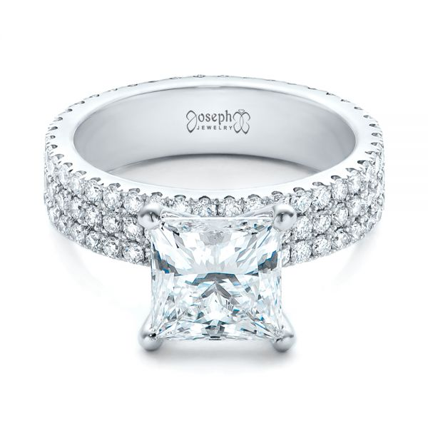 Custom Princess Cut Diamond Eternity Engagement Ring