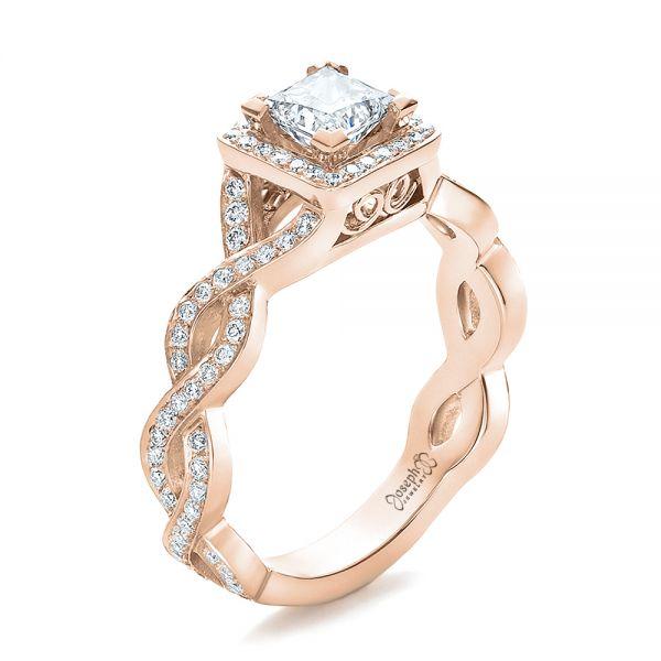 Unique Rose Gold Engagement Rings Princess Cut Images