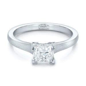 Custom Princess Cut Diamond Solitaire Engagement Ring