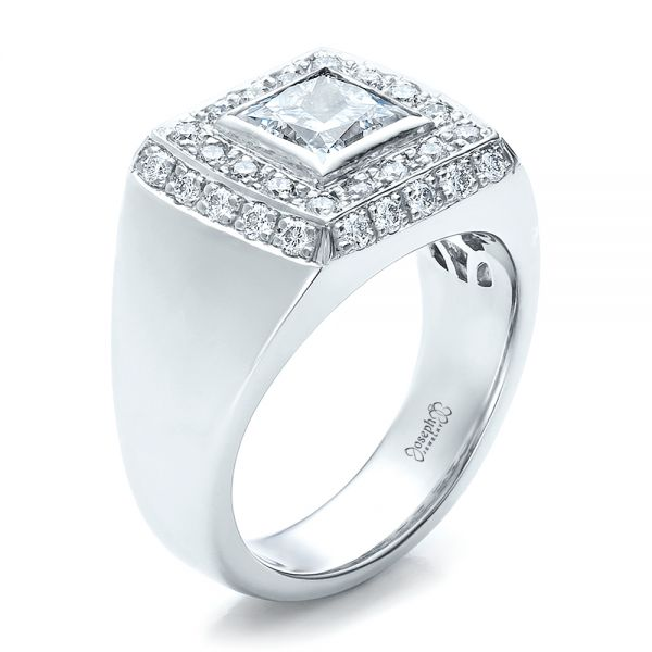 Custom Princess Cut Engagement Ring