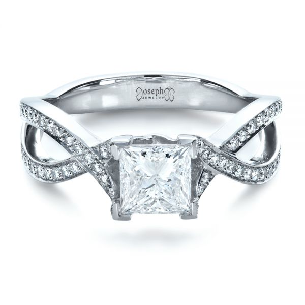 Custom Princess Cut Engagement Ring 1197 Seattle