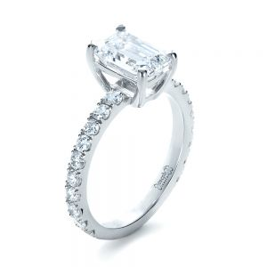 Custom Radiant Cut Diamond Engagement Ring - Image